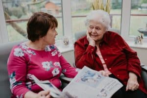Client and live in dementia care worker