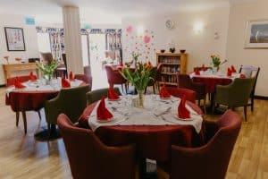 Dining area in Gorseway Nursing home§