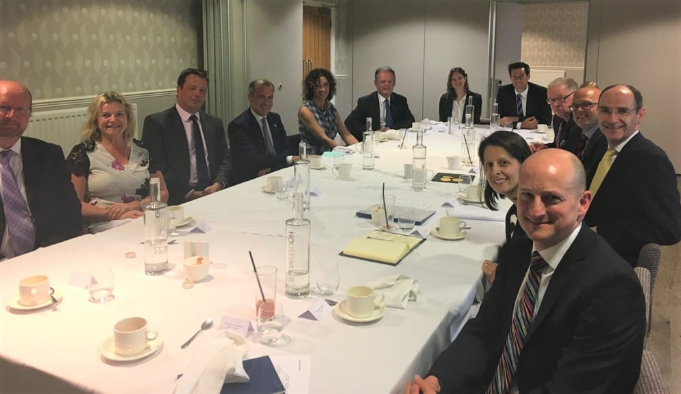 Agincare CEO Raina Summerson joined local business leaders for a lunch in Bournemouth with Bank of England Governor, Mark Carney
