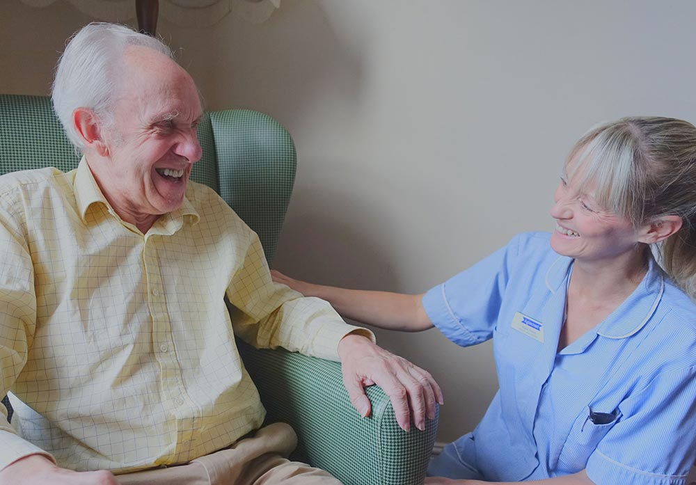 Care home jobs - care assistant with client