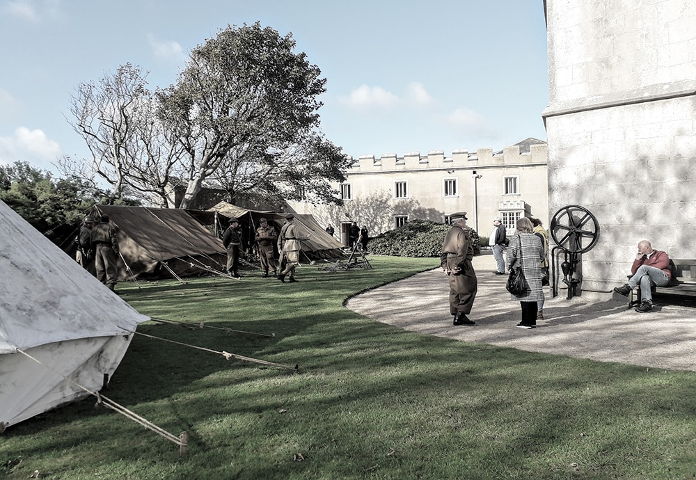 Camp outside Portland Castle