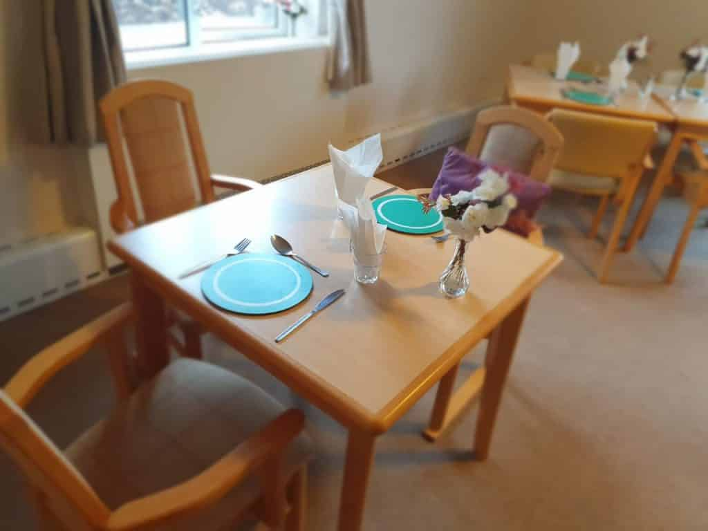 Dining Table at Foylebank Care Home in Derby