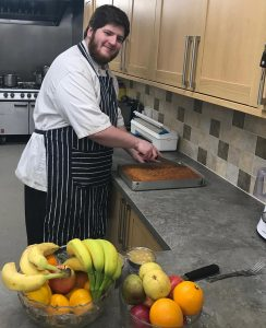 Care home food - one of our chefs