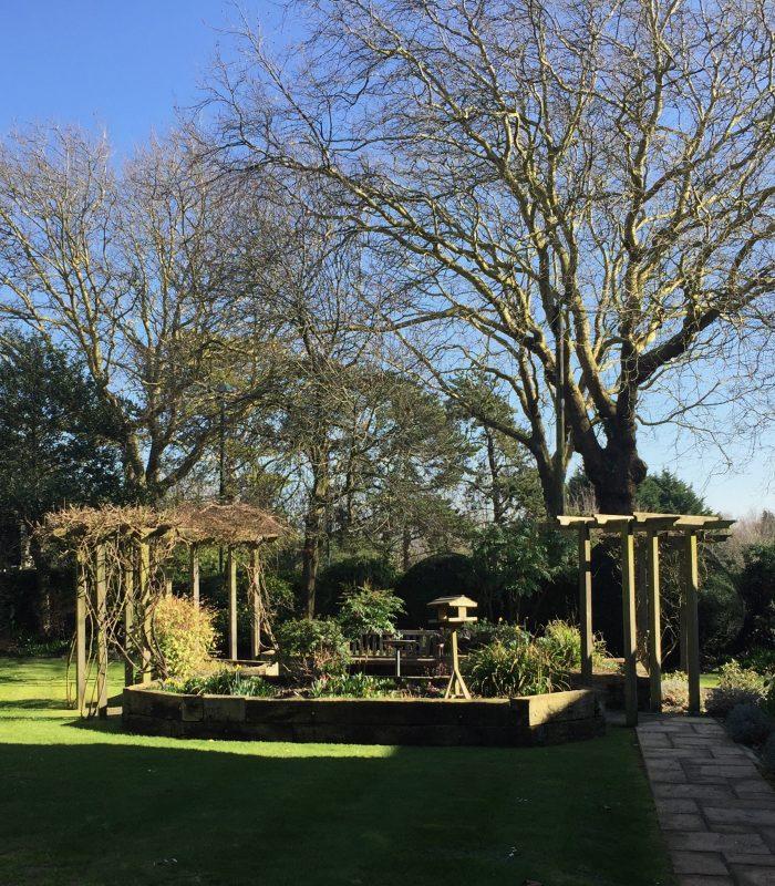 The garden at Cheriton Care Home