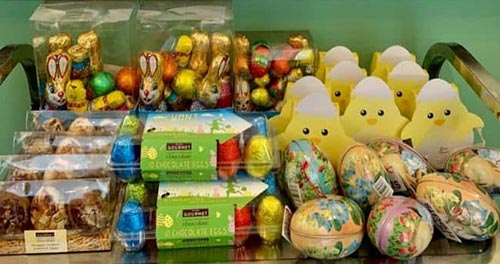 Donation of Easter chocolates