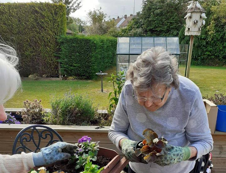 Gardening at our Swindon Care Home