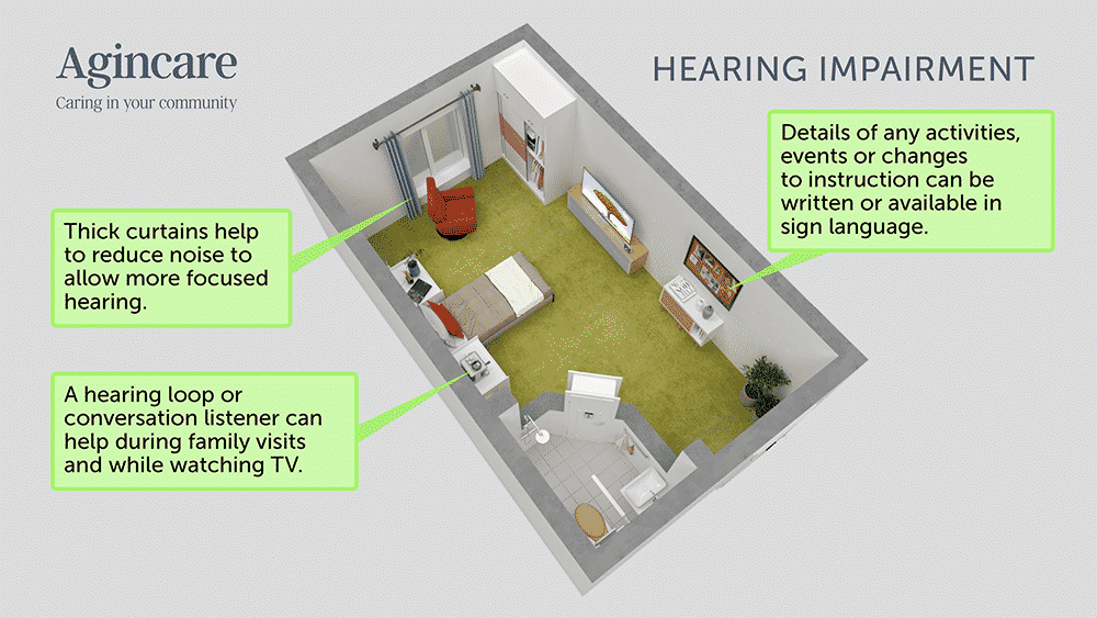 Care home room adaptations - hearing impairment