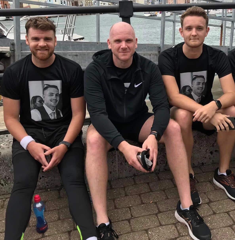 Simon, Adam and Will ready for half marathon