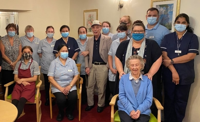 Tilford Care Home team members in group photo