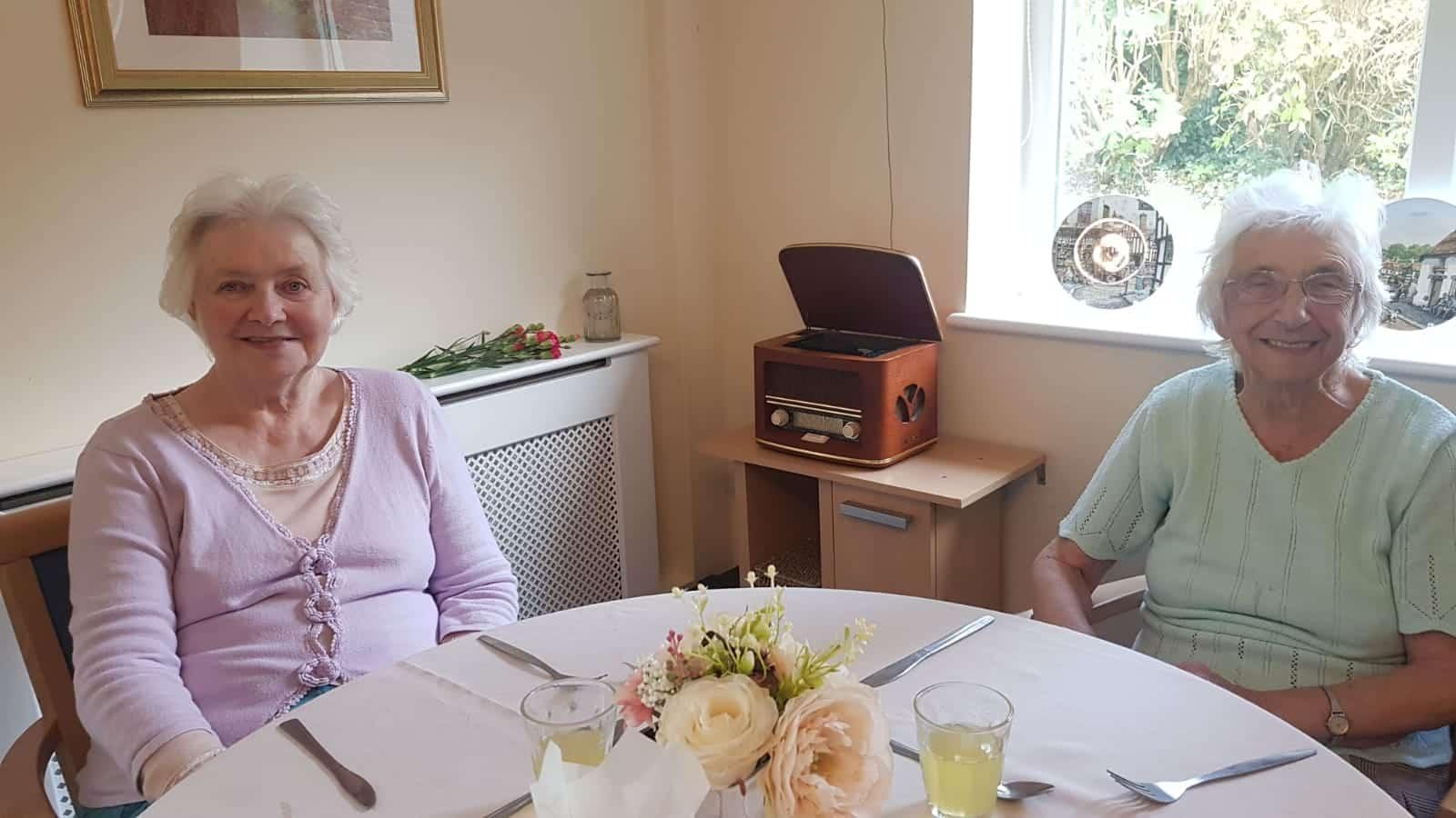 Eileen and Sue at Cheriton Care Home, Dorchester