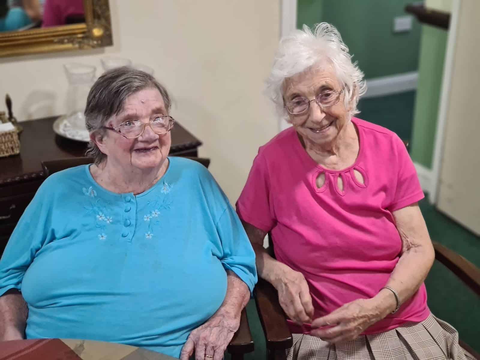 The two Eileens at Cheriton Care Home, Dorchester