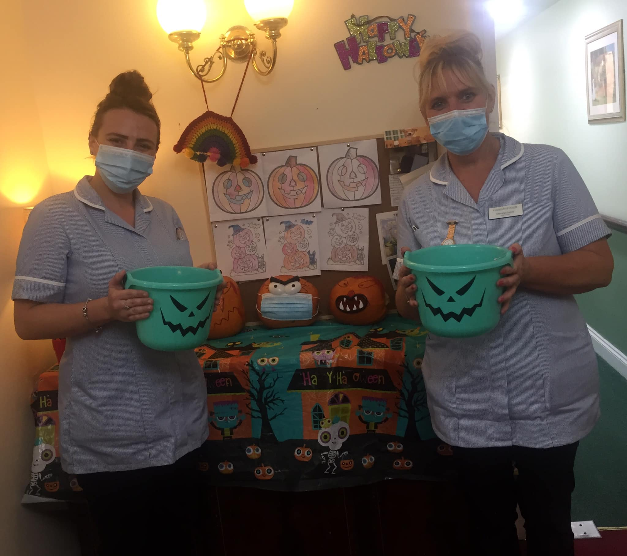 The team at Gainsborough Care Home in Swanage on Halloween