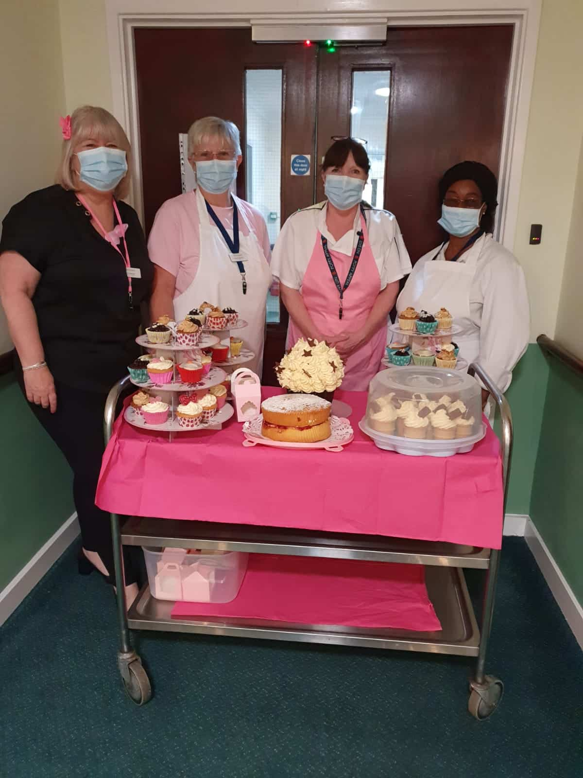 Agincare's Rochester Care Home team baked pink cakes for Wear It Pink Day