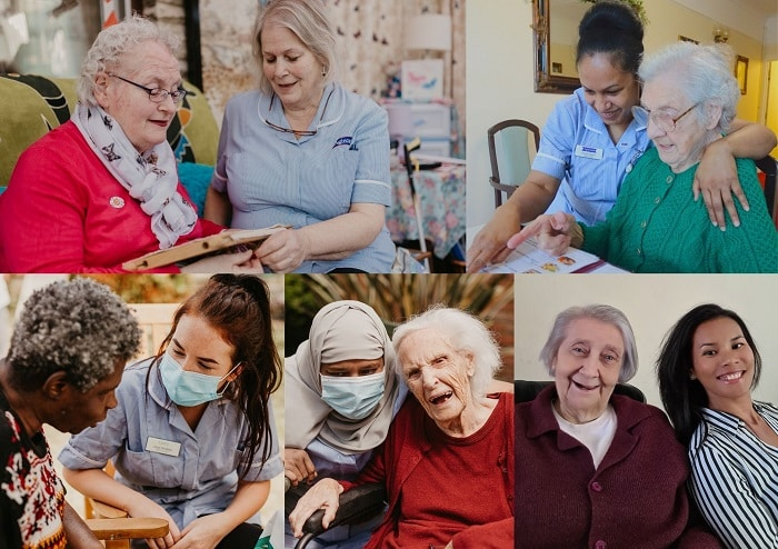 care worker montage