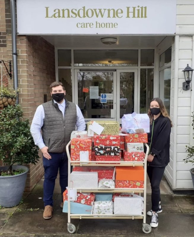 Christmas gifts delivery from Dunelm Swindon to Lansdowne Hill Care Home