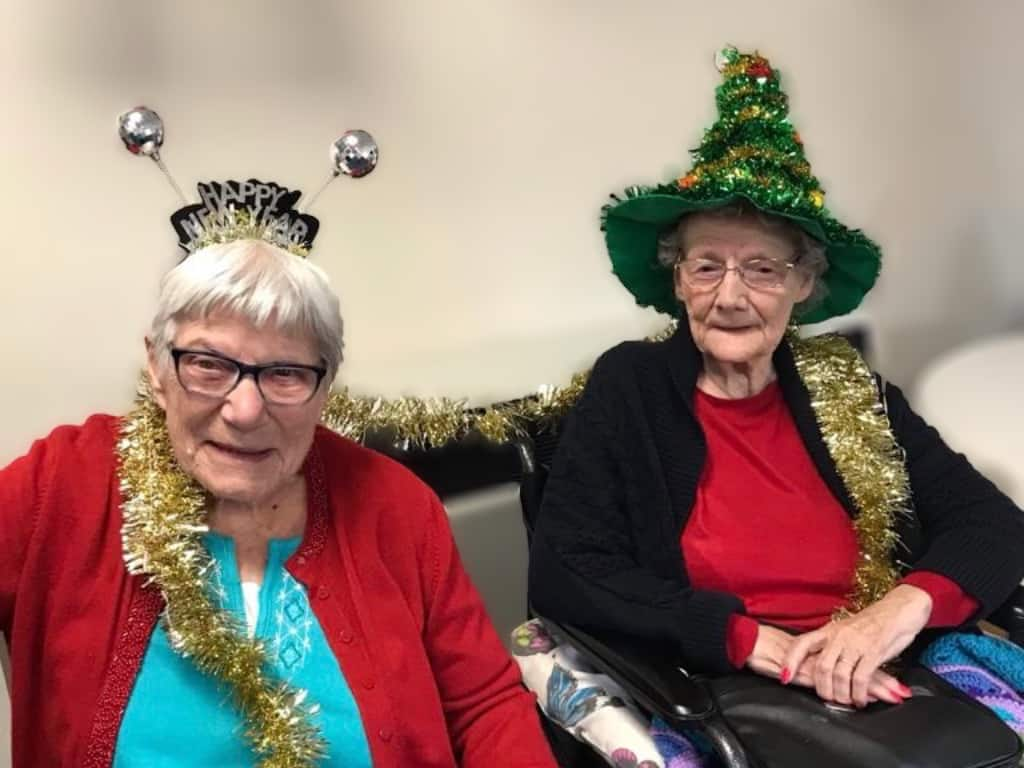 Christmas party-goers at Edgehill Care Home in Swindon
