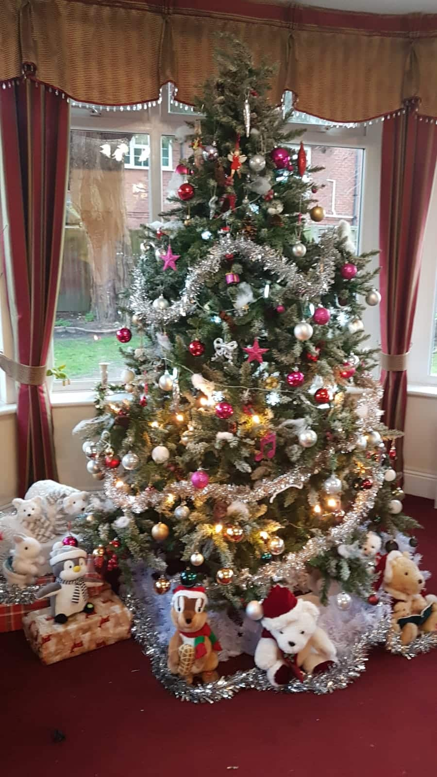 Christmas tree at Chalgrove Care Home in Poole