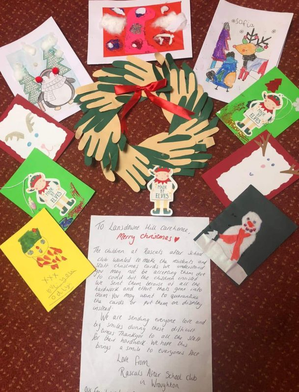 Letter to Lansdowne Hill Care Home in Swindon from Rascals After-School Club