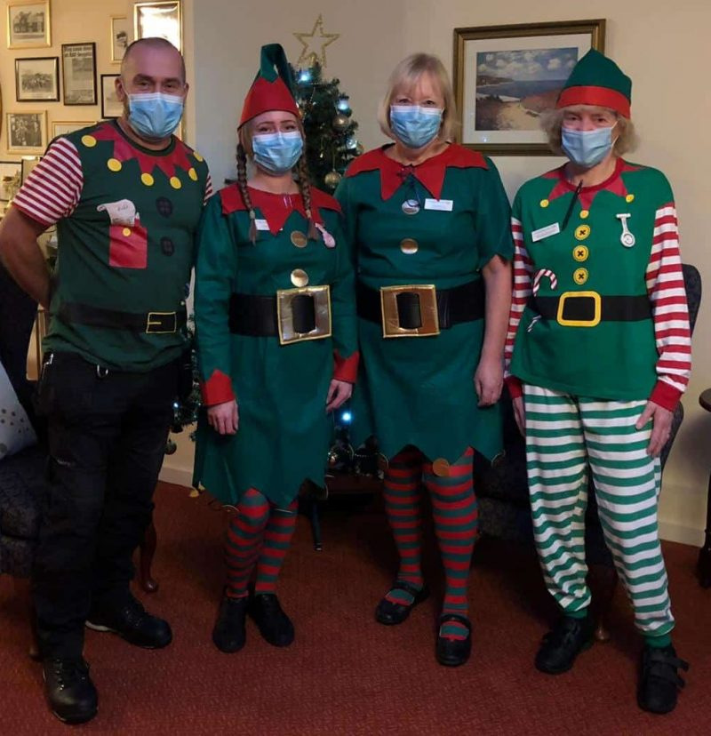 The elves at Lansdowne Hill Care Home in Swindon