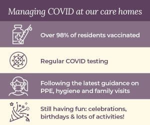 Covid vaccine infographic for all care homes