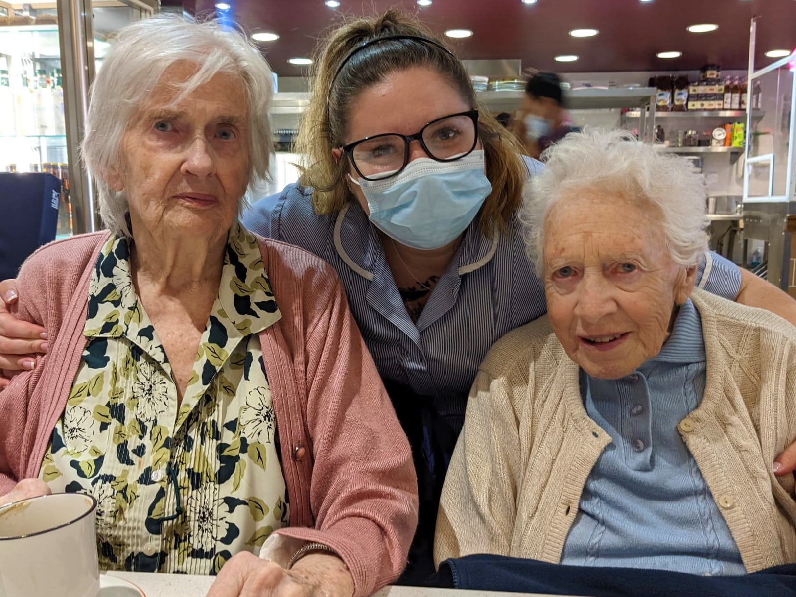 New residents of St Peter's Park dementia wing enjoy lunch