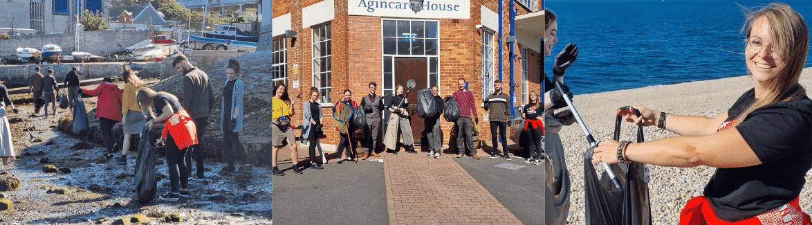 Agincare beach clean team